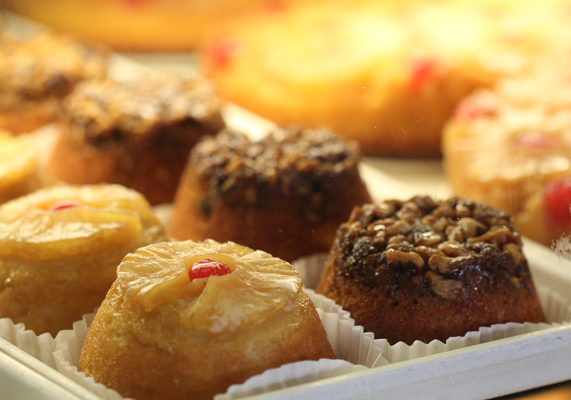 Mini cakes and mini bundts are gaining popularity, and your bakery can offer a special treat with signature toppings like pineapple or pecan.