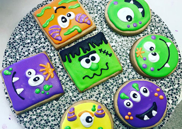 This collection of little monsters comes courtesy of Bennison's Bakery in Evanston, Illinois.