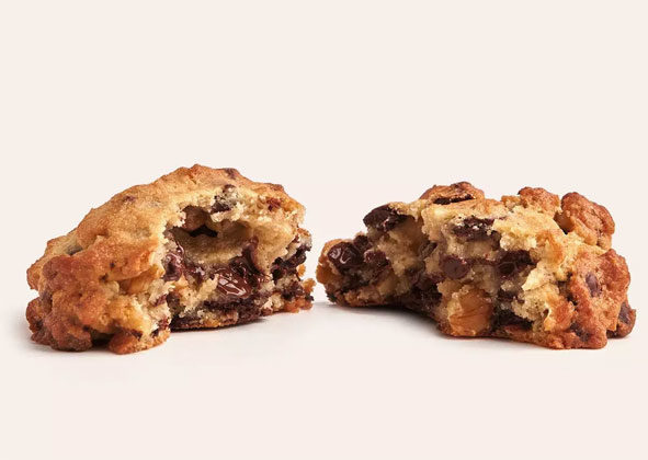 Levain Bakery in New York is famous for its iconicsix-ounce chocolate chip walnut cookie. It's crispy on the outside with a satisfyingly thick and gooey center.  Image courtesy of Levain Bakery
