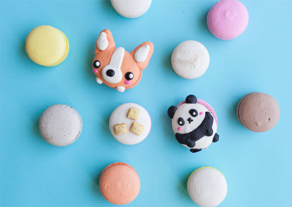 Check out the following slides for some of the incredible vendors and treats available at this year's Dessert Goals Los Angeles, such as detailed character macarons from Honey & Butter.    Image courtesy of Honey & Butter