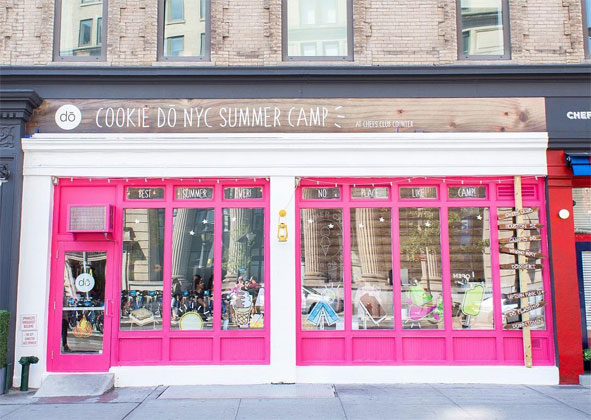 Many bakeries are preparing for the upcoming season in special ways, but few are going to the lengths that New York City's D? is this summer. The cookie dough bakery launched a pop-up shop on Friday, June 1 that takes customers on a nostalgia trip back to their summer camp days.  Images courtesy of Dina Coloma