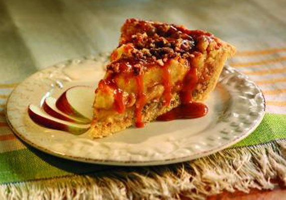 """""""Laura's Sticky Toffee Pudding Apple Pie,"""" 2011 Professional Crisco 100 Year Innovation Award Best In Category – Linda Hundt of DeWitt, MI Photo courtesy of American Pie Council"""