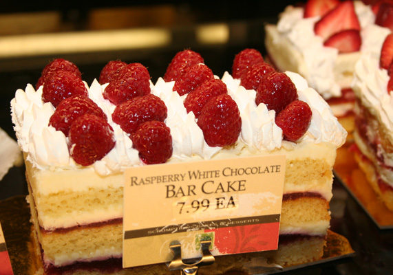 Bar cakes are gaining widespread popularity, and serve as a perfect platform for fresh fruit including raspberries.