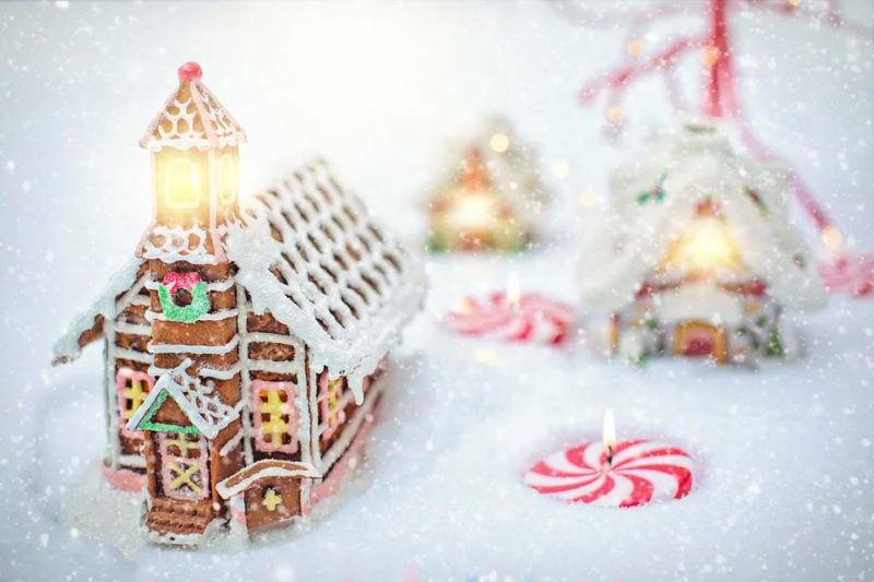 Gingerbread houses are awkward to move once completed and you would hate to have it end up on the floor after all your hard work. Identify a spot where you would like to display the gingerbread house and build there if possible or as close as you can. However, avoid areas with direct heat such as air vents or halogen lamps.  Also, be mindful of spaces that pets could reach.