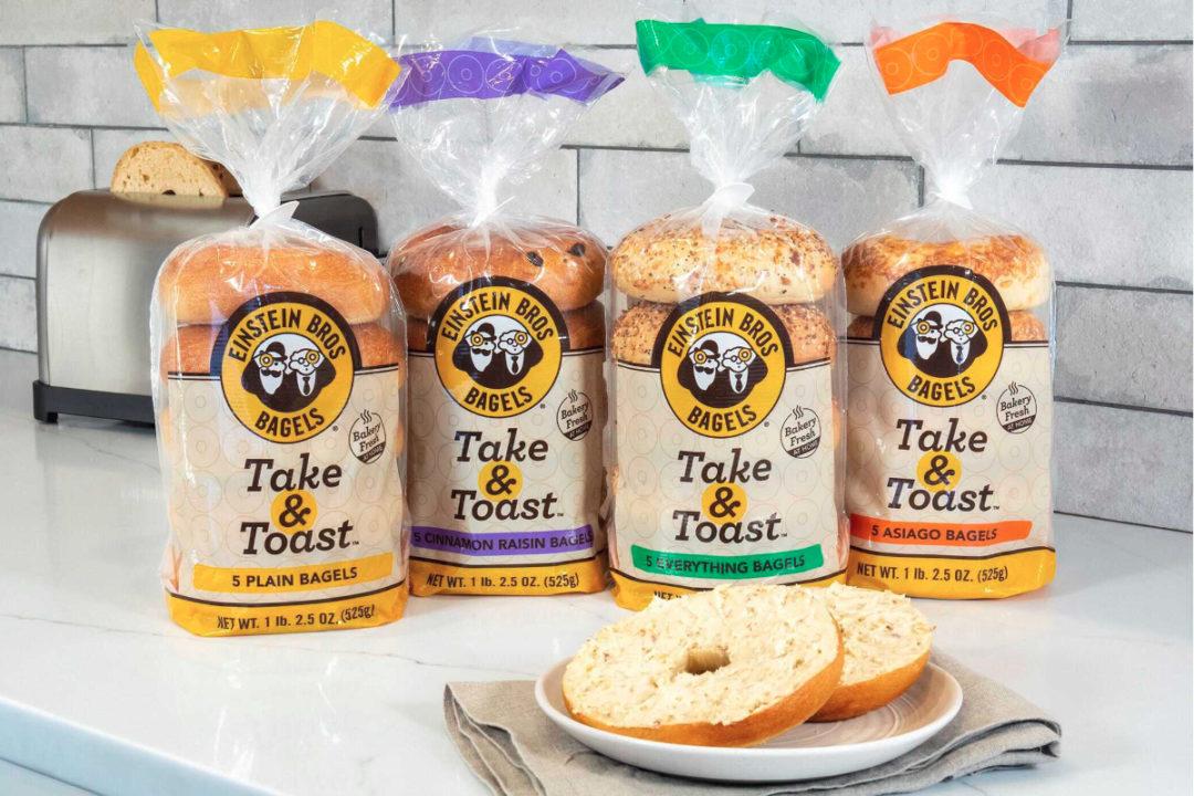 Einstein Bros. Bagels Take & Toast bagels