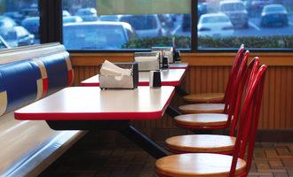 Emptyfastfoodrestaurantbooth lead
