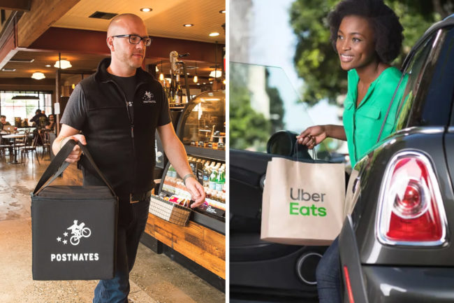 Postmates and Uber Eats combination