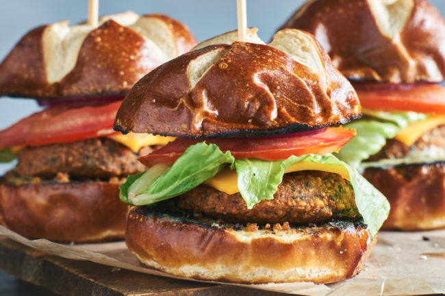 ADM plant-based burger