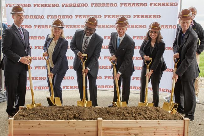 Ferrero groundbreaking