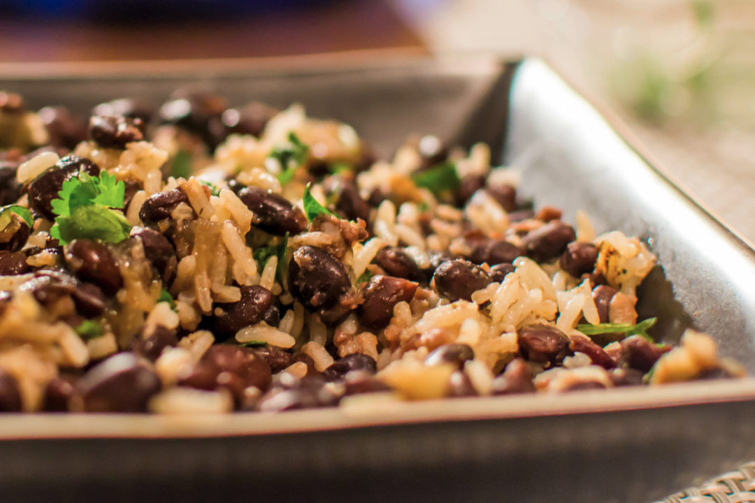 Bowl of rice and beans