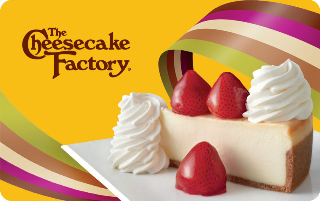 Cheesecake Factory gift card DoorDash