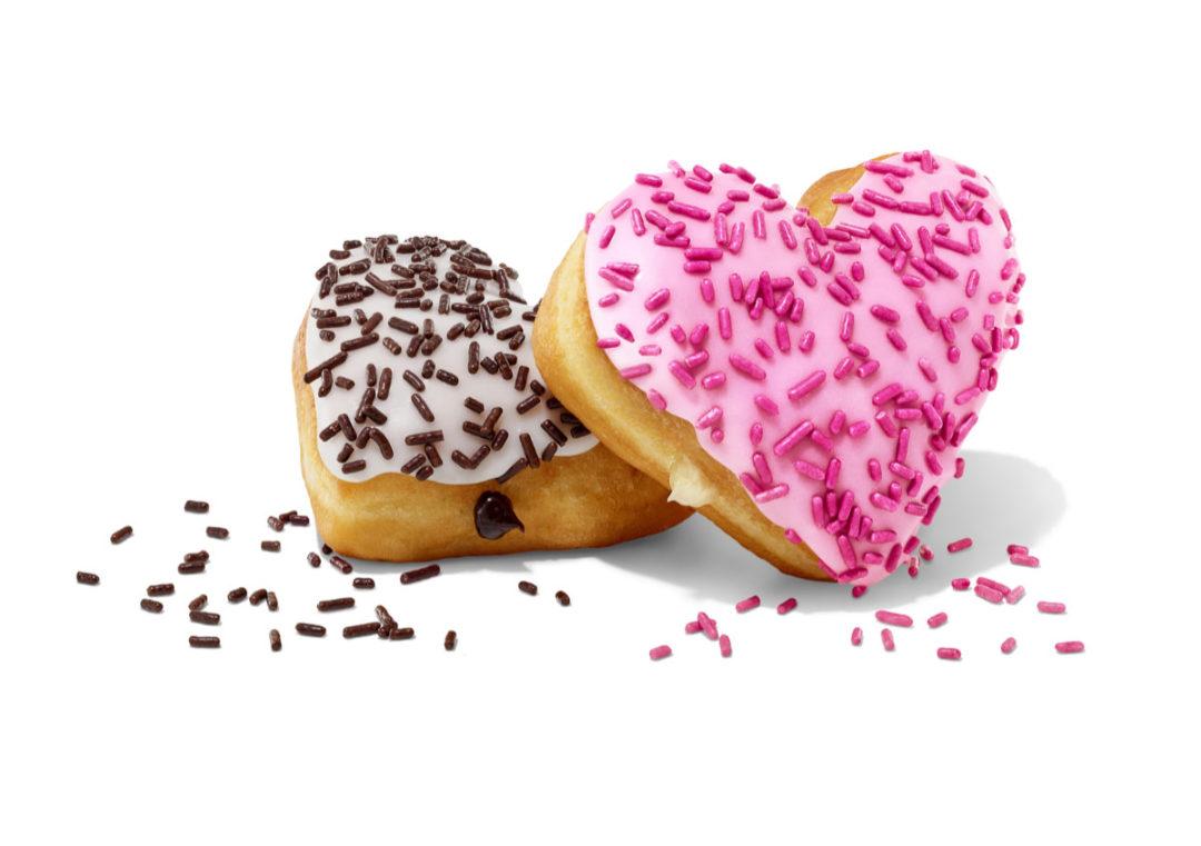 Dunkin Valentines donuts