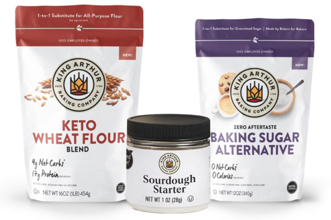 King Arthur Baking Co. sourdough starter, baking sugar alternative and keto flour