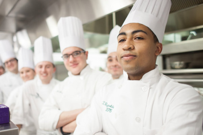 Culinary Institute students in test kitchen