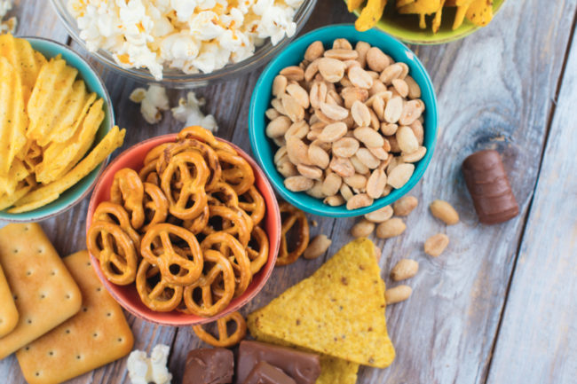 Sweet and salty snacks
