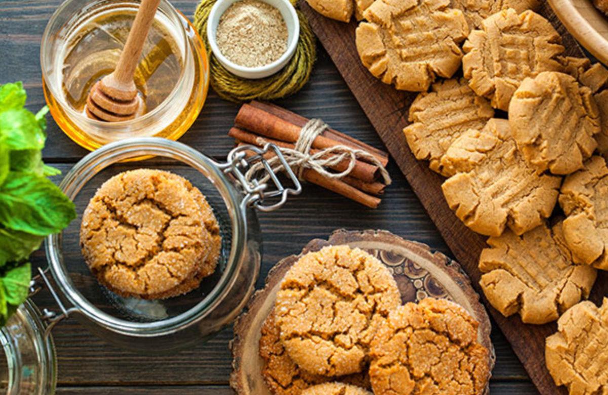 Honey flavored cookies