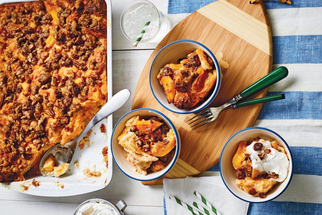 PeachCobblerBreadPudding
