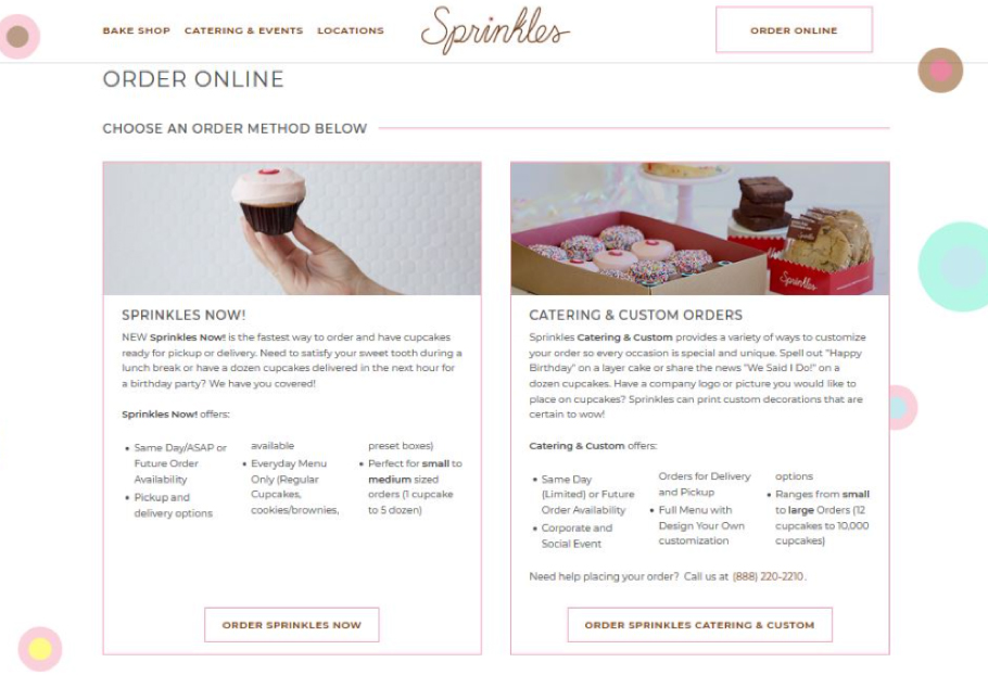 Sprinkles Cupcakes launches new website and app | 2019-04-22