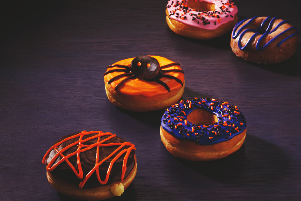 Halloween Dunkin Donuts 2020 Dunkin' Donuts dresses up its donut lineup for Halloween   Bakemag