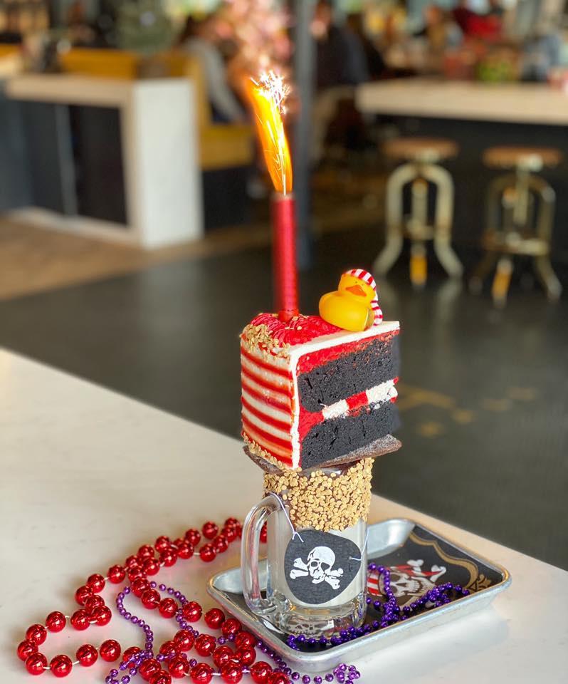 Pleasing Tampa Bakery Starts Off Gasparilla Season With New Freak Shake Personalised Birthday Cards Veneteletsinfo