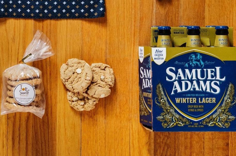 Massachusetts Samuel Adams Boston LagerWinter Lager Snowflake Beer Coaster Holiday Ornament