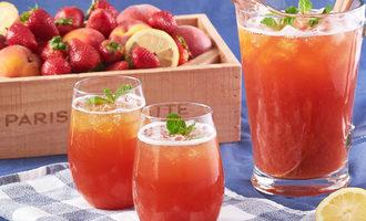 Parisbaguette strawberrypeachicedtea