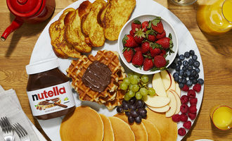 Nutella breakfastplate