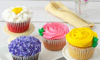 Bakemeawish jumboflowercupcakes