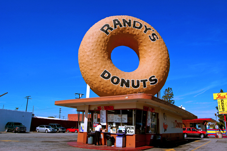 Iconic donut sign