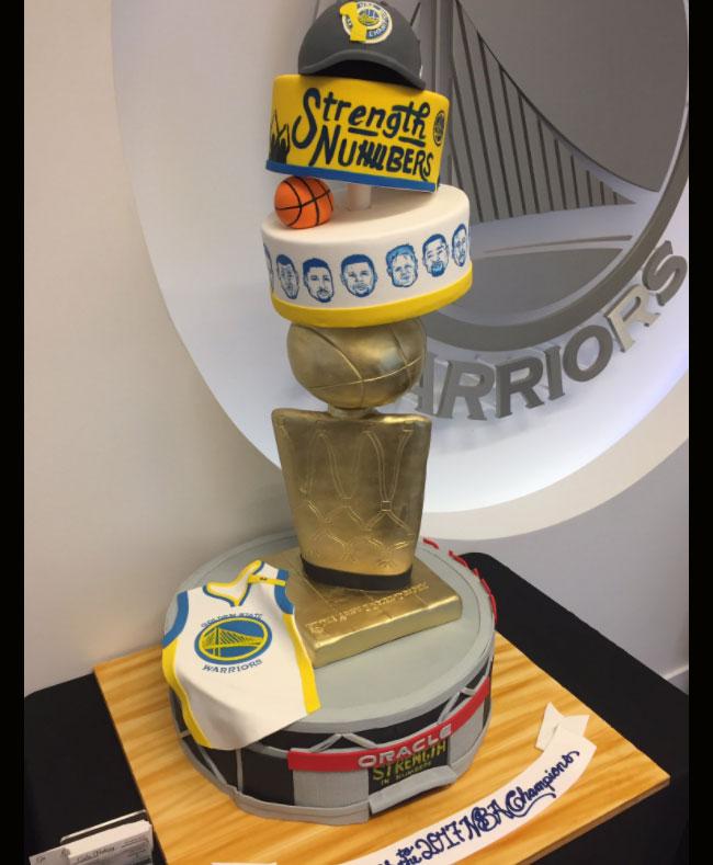 Swell Bay Area Bakery Creates Detailed Cake For Nba Champion Golden Funny Birthday Cards Online Benoljebrpdamsfinfo